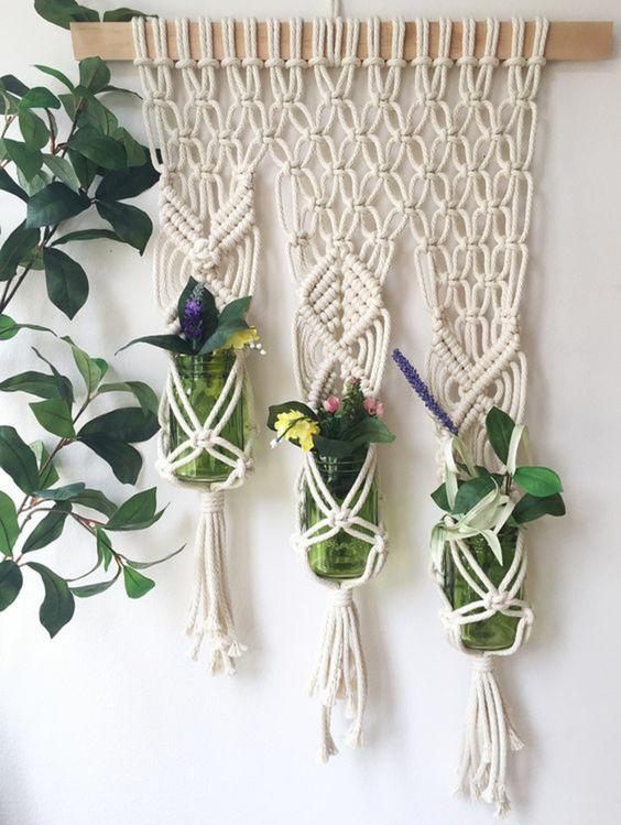 colgador plantas macrame
